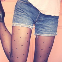 HEART PRINT STOCKINGS from 1Point99.com