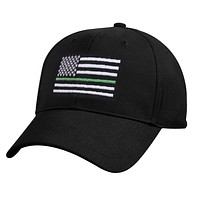 Rothco Thin Green Line Flag Low Pro Contractor Cap