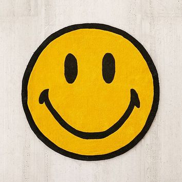 Chinatown Market For UO Smiley Plush Rug   Urban Outfitters