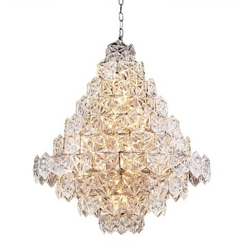 Hexagonal Glass Chandelier | Eichholtz Hermitage L