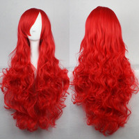 Red Anime Wig Loose Wave Wig Curly Wig