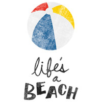 """Nick Nelson's """"Life's a Beach"""" wall decal"""