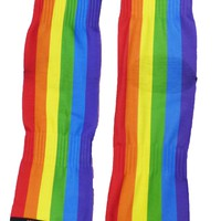 Rainbow Vertical Gay Pride Flag Adult Short Socks All Over Print by