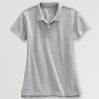 Girls Gray Polo Shirts from Lands' End