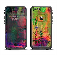 The Neon Colored Grunge Surface Apple iPhone 6 LifeProof Fre Case Skin Set