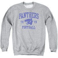 FRIDAY NIGHT LIGHTS/PANTHER ARCH - ADULT CREWNECK SWEATSHIRT - ATHLETIC HEATHER -