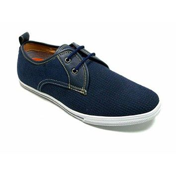 Men's 30179S Blue 2 Eye Lace Up Mocassin Casual Sneaker Shoes