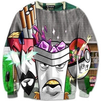 Aqua Teen Thirsty Force Crewneck