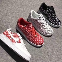 NIKE AIR FORCE 1 X LV Louis Vuitton Popular Women Men Casual Low Help Shoes Sneakers I