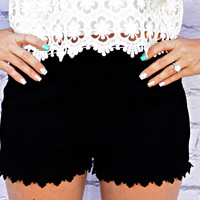 NEW BEGINNING SHORTS IN BLACK