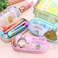 Cartoon Totoro Leather Pencil Pen Bag Cosmetic Pouch Brush Holder Great Present