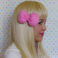 PICK ONE POOFY hair bow small hair clip bow girls bow teens woman Available in 5 colors bubblegum hot barbie light pink blue lilac cheetah