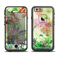 The Green Bright Watercolor Floral Apple iPhone 6 LifeProof Fre Case Skin Set