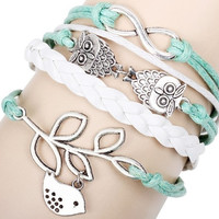 handmade Bracelet  Infinity Love Best Friend gift owl animal = 1697389188