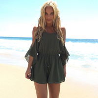 Crush On You Romper In Olive