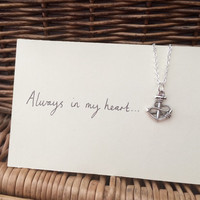 One Direction 1D inspired infinity rope and anchor pendant necklace Larry Stylinson Always In My Heart (Harry Styles and Louis Tomlinson)