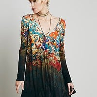 Free People Womens Annette Printed Dress