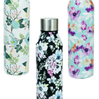 Stainless Steel Floral Bottle | Message In A Bottle