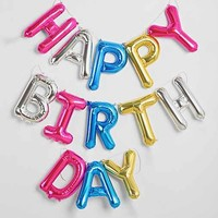 Happy Birthday Rainbow Party Balloon Kit