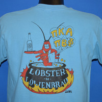 80s Lobster and Lowenbrau Frat Sorority Party t-shirt Large
