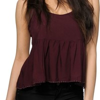 Empyre Griffith Blackberry Crop Tank Top