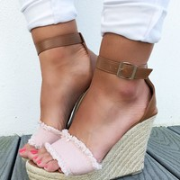 So Much More Wedges: Blush/Multi