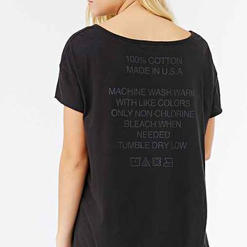 Truly Madly Deeply Wash Me Off Tee - Black