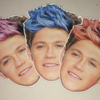 Niall Horan colored hair stickers