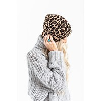 Spot On Leopard Beanie - Taupe