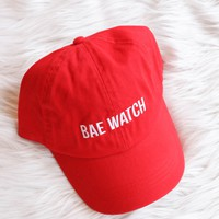 Bae Watching Hat, Red
