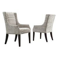 Topline Hannah Chevron Accent Chair - Grey