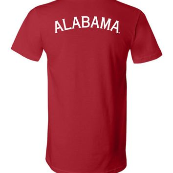 Official NCAA Venley University of Alabama Crimson Tide UA ROLL TIDE! Unisex V-Neck T-Shirt - 29AL-3