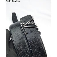 LV hot selling casual men's and women's belts fashion embossed belt
