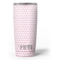 The Micro Pink Polka Dots - Skin Decal Vinyl Wrap Kit compatible with the Yeti Rambler Cooler Tumbler Cups