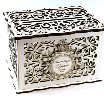WEDDING MONEY BOX, Personalised  Wedding Card Box, Savings box, Wedding Card Holder, Wooden Money Box, Wedding Keepsake Box