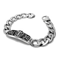 New Arrival Awesome Hot Sale Shiny Gift Great Deal Korean Stylish Titanium Vintage Weathered Cross Rack Couple Strong Character Bracelet [6542699267]