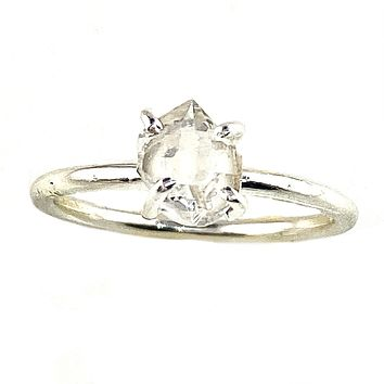 Herkimer Diamond Sterling Silver Solitaire Ring