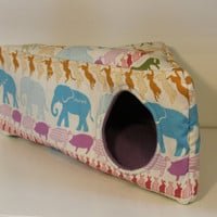 Guinea Pig Cozy, Triangle Hedgehog House, Triangular Rat Cube, Reinforced Corner House - Colourful Animals