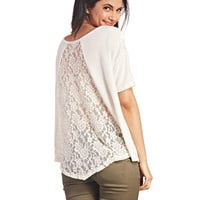 Girly Lace-Back Top | Wet Seal