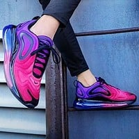 Nike AIR MAX 720 air cushion sneakers sneakers Black purple