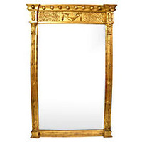 Neoclassical-Style Gilt Mirror