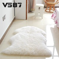 Home Textile Carpet Hairy Sheep Artificial Textile Cover Mat Washable