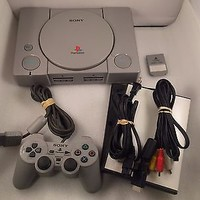 Original Sony PS1 Playstation Console Bundle w/ Dualshock Controller Memory Card