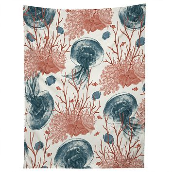 Belle13 Coral And Jellyfish Tapestry