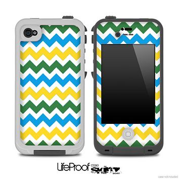 Wanelo Colored Chevron Pattern Skin for the iPhone 5 or 4/4s LifeProof Case