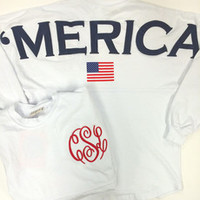 (Pre Order) Ladies 'Merica Spirit Jersey with Custom Monogram