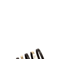 Looping You In Black and Gold Flat Sandals