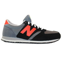 New Balance 420 - Capsule Black/Orange Suede/Mesh Lifestyle Sneaker