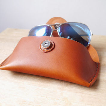 Leather Sunglasses Case / Glasses Protector - Handmade to order