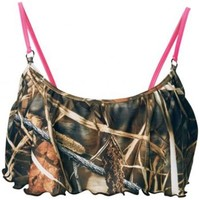 Camo Bathing Suits For Girls | Realtree Camo Swimsuit top With Adjustable Tie Back